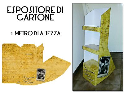 Espositore di cartone grafica originale